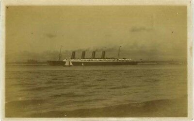 Shipping - Cunard Liner - In River Mersey? Real Photo Pre 1918.