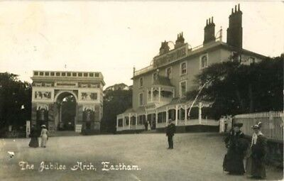 """Wirral Eastham - """"jubilee Arch"""" + Eastham Ferry Hotel - Walker R/p Posted 1908."""