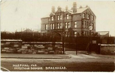 """WIRRAL BIRKENHEAD - """"HOSPITAL FOR INFECTIOUS DISEASES"""" TOLEMACHE Rd POSTED 1909."""