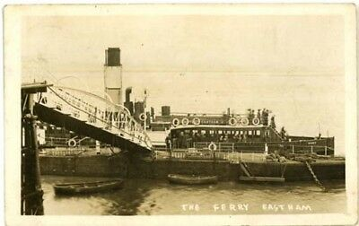 """Wirral Eastham - """"the Ferry Ss Ruby At Eastham Landing Stage"""" - R/p Posted 1914."""