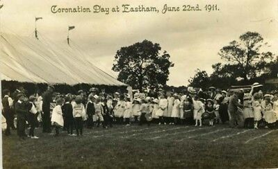 """Wirral Eastham - Coronation Day At Eastham 1911"""" + Children - Walker R/p 1911."""