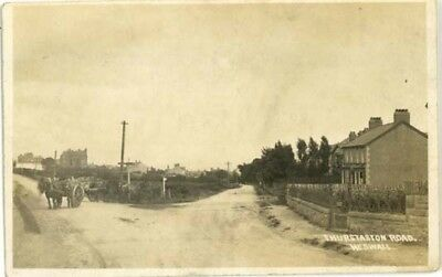 Wirral Heswall - Junction Of Telegraph & Thurstaston Roads + Horses/carts 1920.
