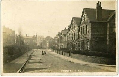 """Wirral Oxton - """"bennetts Hill"""" Houses On Right Bombed In 1941 - R/p Posted 1906."""