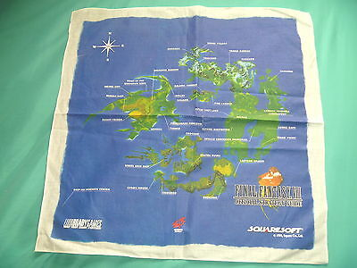 Final Fantasy Viii  Squaresoft 1999 Cloth Map Vintage Electronics Boutique