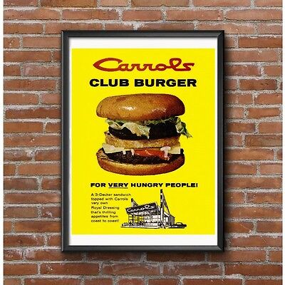 Carrols Drive-In Restaurant Club Burger Tribute Poster - Western New York