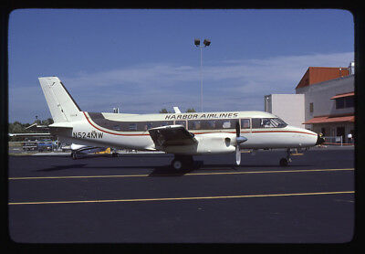 Harbor Airlines Embraer EMB-110P1 N524MW 35mm Kodachrome Aircraft Slide
