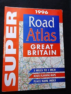 LARGE 1996 GREAT BRITIAN Road ATLAS Map