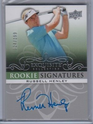 ^ 2013 Ud Exquisite Golf Rookie Signatures Auto /199 Russell Henley
