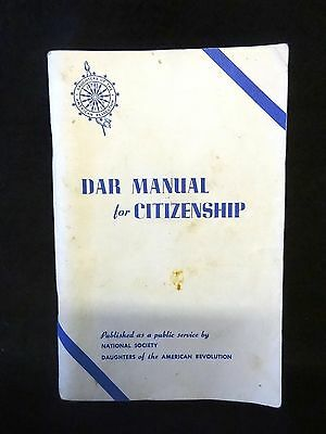 DAR Daughters of the American Revolution 1985 Manual for Citizenship