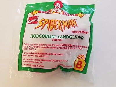 Marvel Comics Spider-Man Happy Meal New Toy Hobgoblin Landglider 1995