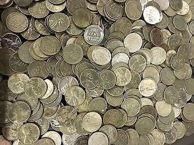 1943 steel penny lot of 50 war cents mixed mint marks and condition see photo