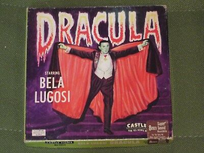 """Super 8 Sound  """"  Dracula  """"  200 ft with orig box VG condition"""