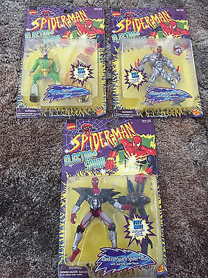Spider-Man Electro-Spark collection, lot of 3 figures, NEW, Marvel Comics, 1997
