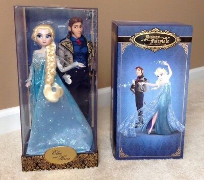 Disney Store Designer Fairytale Collection Heroes vs Villains Elsa & Hans Doll