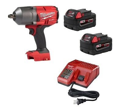"Milwaukee 2767-22 M18 FUEL ½"" Impact WrenchGEN II 1400lbs KIT 2 Batts & Charger"