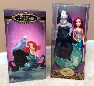 Disney Little Mermaid Ariel & Ursula Fairytale Designer Dolls Limited Ed LE 6000