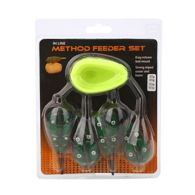 Fishing Bait Holder Feeders 30g 40g 50g 60g Set Baiting Tool Part Device