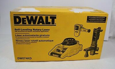 NEW Dewalt DW074KD Self-Leveling Interior and Exterior Rotary Laser Level Kit