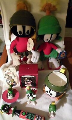 8 WB Marvin the Martian cup, lapel/hat pin, spin pop, hallmark ornament + more