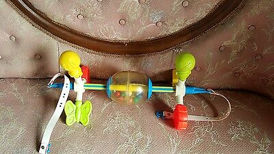 1973 vintage  Fisher price baby crib toy collectible