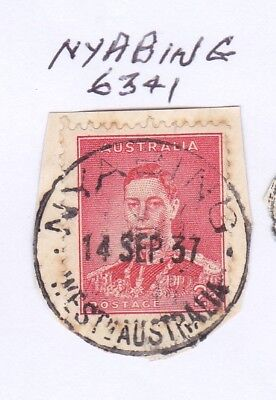 *WA POSTMARKS.NYABING.Type D26.On 2d KGVi.CTS.Rated3.*