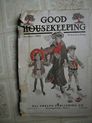1903  Good Housekeeping magazine,  clothing, fashion and other ads