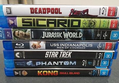 Various Blu-Rays King Kong Deadpool Jurassic World