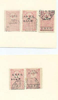 Syria, group of  revenue stamps
