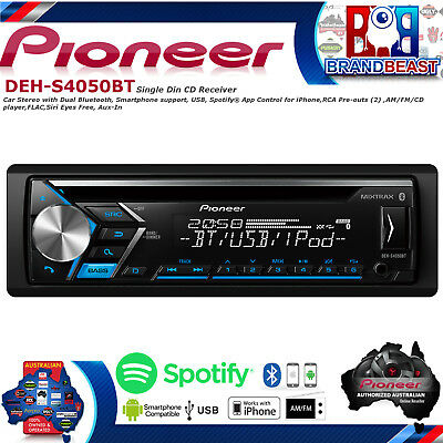 New Pioneer DEH-S4050BT Aux Usb Iphone Android Bluetooth Car Stereo DEHS4050BT
