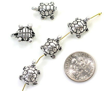 9mm 4 Pieces 8212 TierraCast Small Shell Beads Antiqued Silver Plate