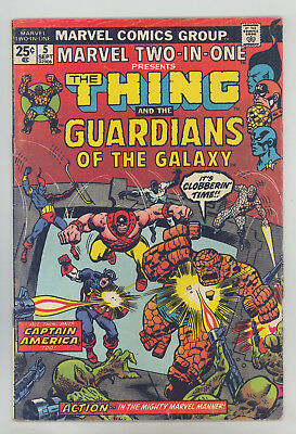 Marvel Two-In-One #5 FN Buscema, 2nd Guardians of the Galaxy, Captain America