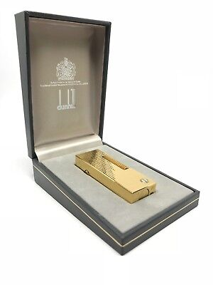 ACCENDINO DUNHILL VINTAGE LIGHTER ROLLAGAS GOLD PLATED NEW OLD STOCK 1990's
