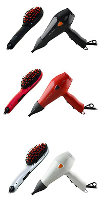 Cabello Hair Styling Gift Set_ Hair Dryer+Glow Straightening Brush_Value Bundle