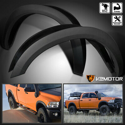 2010-2017 Dodge Ram 2500 3500 Black Factory Style Smooth Fender Flares Protector