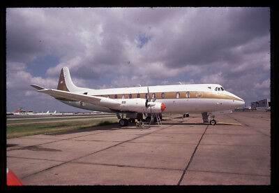 E Ray Charles Vickers 818 Viscount N923RC 35mm unknown film Aircraft Slide