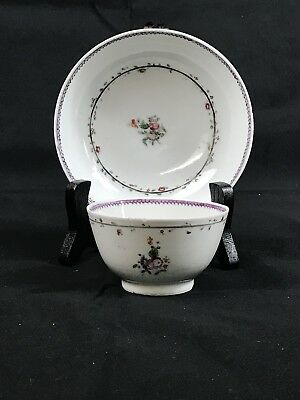 Antique Chinese Porcelain Famille Rose Cups & Saucers Set ,18th Century