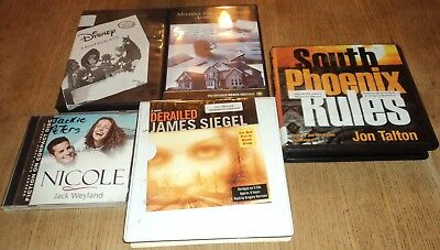 """FICTION / NON-FICTION """"AUDIO"""" CD BOOKS - Lot of 6 Hours of Books on CD"""