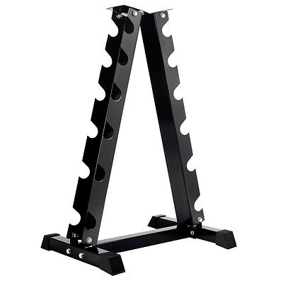 NEW Heavy Duty 6 Pairs Vertical Fitness Exercise Workout Dumbbell Storage Rack