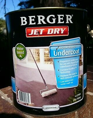 4L Berger Jet Dry Paving and Concrete Undercoat Paint - No etching required!