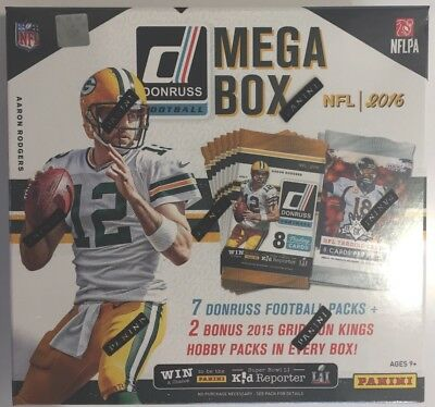 2016 Panini Donruss NFL Football Mega Box - New & Sealed