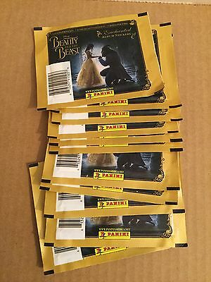 (40) Unopened Packs Of Panini Disney Beauty And The Beast Stickers