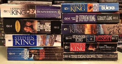 Lot Of 9 Stephen King Soft Cover Books
