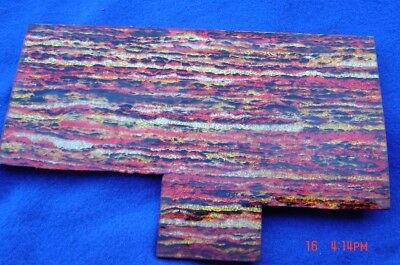 A Sheet of Red,Gold,yellow & black celluloid scales for Knife Handles