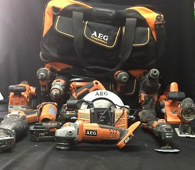 Bulk Lot Of Aeg Power Tool Set 20 Pieces