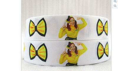 The Wiggles Emma ribbon for cake decorating or scrapbooking 1m Yellow Bow