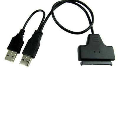 "Data Power Cable USB 2.0 to SATA 22 Pin Adapter fr 2.5"" HDD Hard Disk Driver NEW"