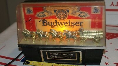 Vintage Budweiser Bartop Light Clydesdales Working