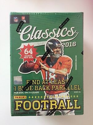 2016 Panini Classics NFL Football 8-pack Blaster Box - New & Sealed