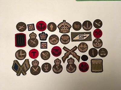 vintage canadian army rank & trade patches lot2