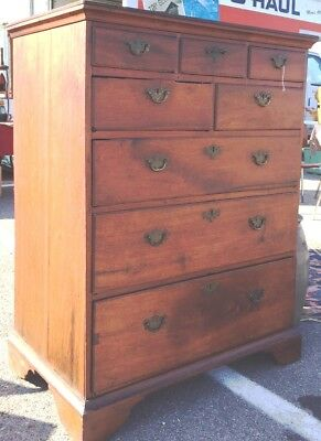C.1720s Queen Anne Walnut Tall Chest of Drawers probably Lancaster County PA